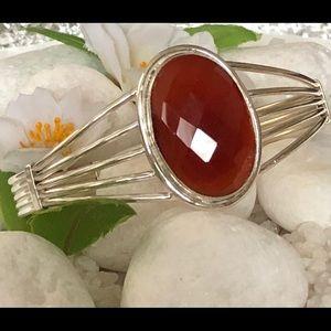 Jewelry - 🛍✨BEAUTIFUL FACETED CARNELIAN CUFF BRACELET🌸❤️